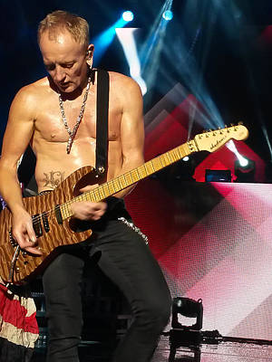 Phil Collen Of Def Leppard 2 Print by David Patterson