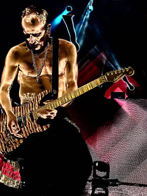 Phil Collen Of Def Leppard 3 Print by David Patterson
