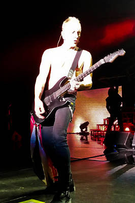Phil Collen Of Def Leppard 6 Print by David Patterson