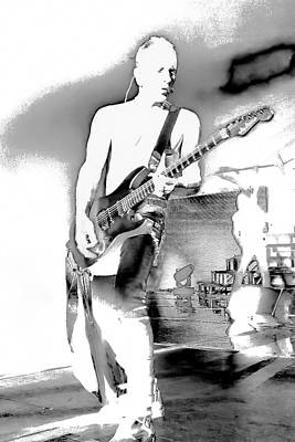 Phil Collen Of Def Leppard Print by David Patterson