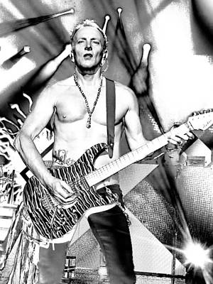 Phil Collen With Def Leppard Print by David Patterson