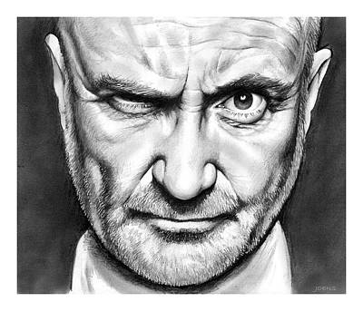 Singer Drawing - Phil Collins by Greg Joens