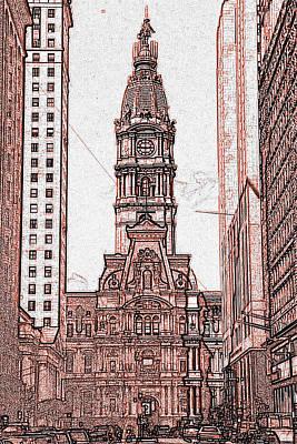 Philadelphia City Hall Print by Art America Online Gallery