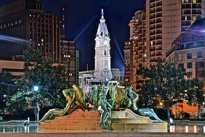 Flyers Photograph - Philadelphia City Hall by Frozen in Time Fine Art Photography