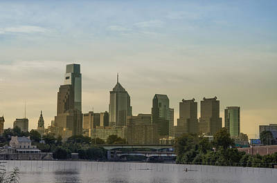 Phillies Photograph - Philadelphia Cityscape From The Schuylkill River by Bill Cannon