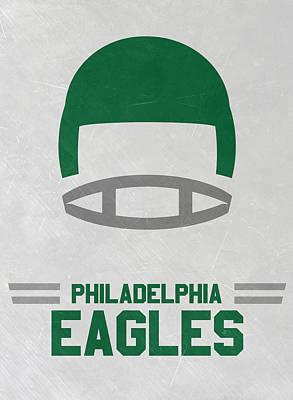 Philadelphia Mixed Media - Philadelphia Eagles Vintage Art by Joe Hamilton