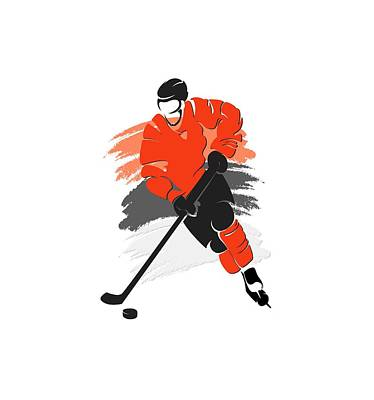 Philadelphia Flyers Player Shirt Print by Joe Hamilton