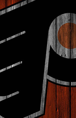 Philadelphia Flyers Digital Art - Philadelphia Flyers Wood Fence by Joe Hamilton