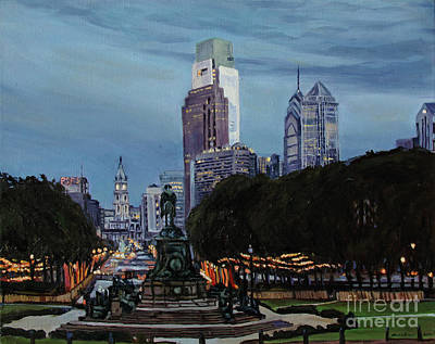 Philadelphia Nightfall Original by Christopher Buoscio