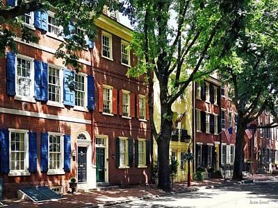 Philadelphia Pa Photograph - Philadelphia Pa - Society Hill Street by Susan Savad