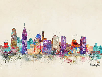 Colourfull Painting - Philadelphia Pennsylvania  by Bri B