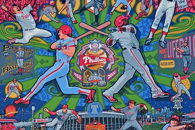 Baseball. Philadelphia Phillies Photograph - Philadelphia Phillies by Frozen in Time Fine Art Photography