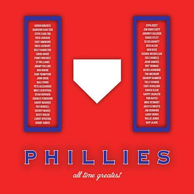 Maddox Digital Art - Philadelphia Phillies Greatest by Damon Gray