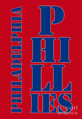 Citizens Bank Park Drawing - Philadelphia Phillies Typography by Pablo Franchi