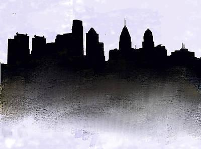 Philadelphia Skyline Painting - Philadelphia Skyline 1  by Enki Art