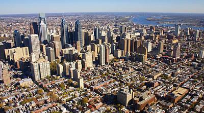 Philadelphia Skyline Aerial Graduate Hospital Rittenhouse Square Cityscape Print by Duncan Pearson