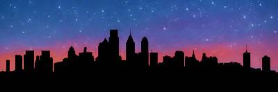 Philadelphia Skyline Mixed Media - Philadelphia Starlight by Lori Deiter