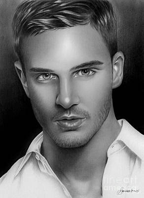Hunk Drawing - Philip Fusco by Adjie Ananto