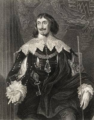 Philip Herbert 4th. Earl Of Pembroke Print by Vintage Design Pics
