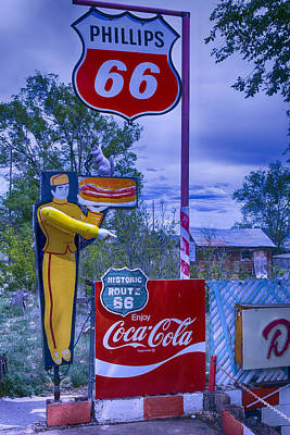 Hotdog Photograph - Phillips 66 Sign by Garry Gay