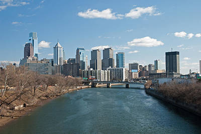 Philadelphia Skyline Photograph - Philly Winter by Jennifer Ancker