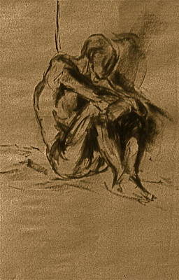 Male Nude Drawing Drawing - Philonius by Chris  Riley