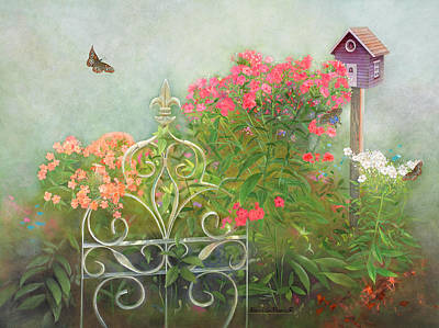 Phlox Painting - Phlox Of Late Summer by Nancy Lee Moran