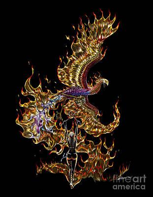 Phoenix Drawing - Phoenix by Stanley Morrison