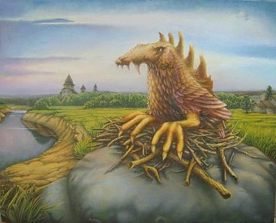 Landskape Painting - Phoenix by Vsevolod Poliohin