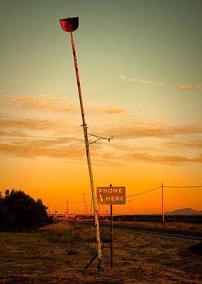 Telephone Poles Photograph - Phone Sign New Jerusalem Ca by Troy Montemayor