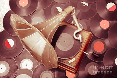 Classic Audio Player Photograph - Phonograph Music Player by Jorgo Photography - Wall Art Gallery