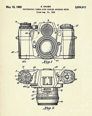 Photographic Camera With Coupled Exposure Mete-1962 Print by Pablo Romero
