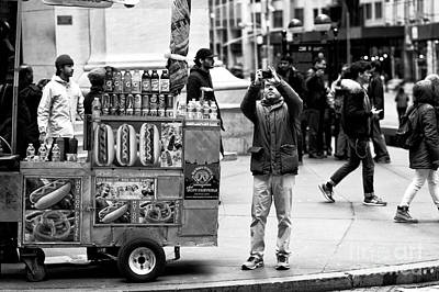 Hot Dog Stands Photograph - Photographing Wall Street by John Rizzuto