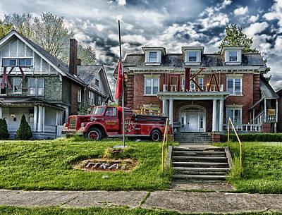 Pi Kappa Alpha Fraternity House - Marshall University Print by Mountain Dreams
