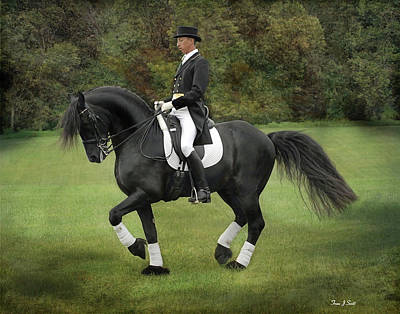 Horses In Art Photograph - Piaffe  by Fran J Scott