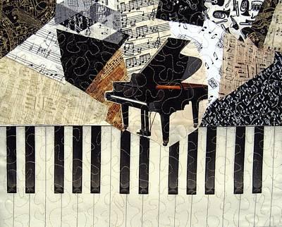 Piano Concerto Print by Loretta Alvarado