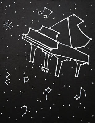 Constellations Painting - Piano Constellation by Izzy Anderson