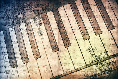 Piano Days Print by Jutta Maria Pusl