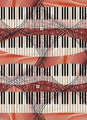 Room Digital Art - Piano - Keyboard - Musical Instruments by Anastasiya Malakhova