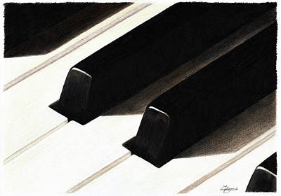 Piano Keys Print by Jeanne Delage