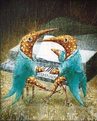 Birdman Painting - Piano Lessons by Lolita Bronzini