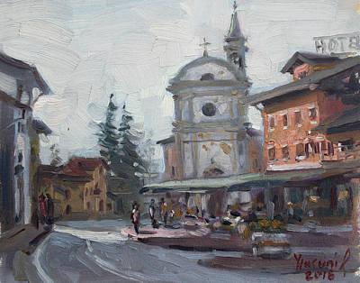 Piazza Di Limana Print by Ylli Haruni