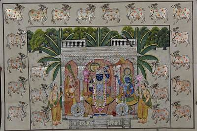 Shri Krishna Painting - Pichwai 4 by Unknown