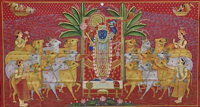 Shri Krishna Painting - Pichwai 3 by Unkown