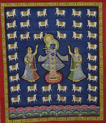 Shri Krishna Painting - Pichwai 5 by Unknown