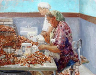 Picking Crabs Original by Mitch Kolbe