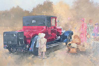Summer Picnic Painting - Picnic In The Twenties by Peter Miller