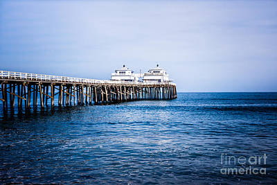 Malibu Photograph - Picture Of Malibu Pier In Southern California by Paul Velgos