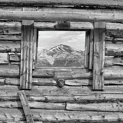 Gore Range Photograph - Picture Window 2 Bw by Eric Glaser