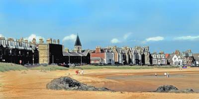 Huisken Digital Art - Picturesque North Berwick Scotland by Lyle  Huisken